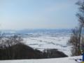 [北海道][冬景色]キトウシ山頂から東川・東神楽町市街地を望む
