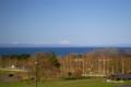 [北海道][羊蹄山]八雲PAから噴火湾越しに見る羊蹄山