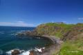 [北海道][海]襟裳岬突端から「風の館」を振り返る