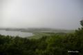 [北海道][釧路湿原]サルポ展望台から望む塘路湖と塘路住宅街