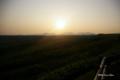 [北海道][開陽台]開陽台から望む夕日