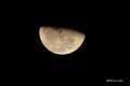 [空][星]下弦の月 (直焦撮影)