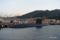 [広島県][呉][海上自衛隊艦艇]おやしお型潜水艦 自衛艦旗降下前