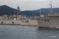 [広島県][呉][海上自衛隊艦艇]TV-3517 しらゆき 自衛艦旗降下前