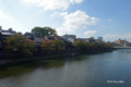 [石川県][金沢]浅野川大橋から主計町茶屋街を望む