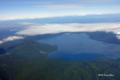 [北海道][空撮][支笏湖]上空から見た支笏湖と恵庭岳