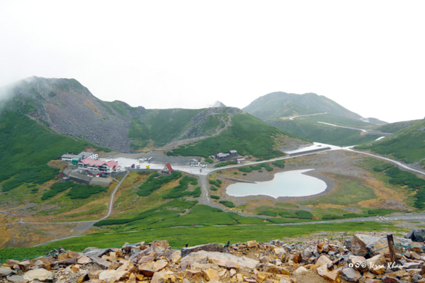 乗鞍富士見岳から望む乗鞍畳平全景