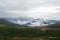 乗鞍スカイライン越しに望む穂高連山