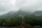 明神橋から望む穂高連山