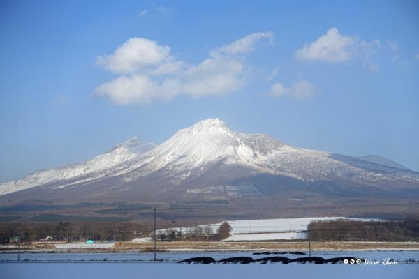 雪の北海道駒ヶ岳