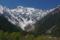 小梨平河岸から望む穂高連峰と岳沢
