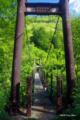 [北海道][雨竜沼湿原]渓谷第二吊橋 @雨竜沼湿原・南暑寒岳登山路