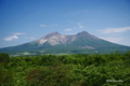 [北海道][山][北海道駒ヶ岳]森町側から北海道駒ヶ岳を望む