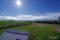 「就実の丘」から望む大雪山・十勝岳連峰全容