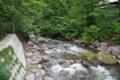 [青森][青荷温泉]吊り橋から望む渓流