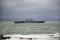 出雲日御碕沖に停泊中のDDH-183「いずも」