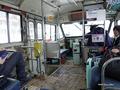 [岩手県][冬景色]岩手県北バス松川温泉線のボンネットバス内部