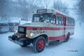 [岩手県][冬景色]岩手県北バス松川温泉線のボンネットバス