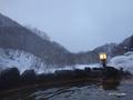 [北海道][冬景色]見市温泉旅館露天風呂の風景