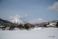 [冬景色][羊蹄山]尻別岳と羊蹄山