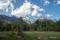 田代湿原から望む穂高連山