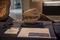 エゾミカサリュウ 頭骨化石レプリカ @三笠市立博物館