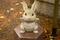 野見宿禰神社のウサギ像 左側