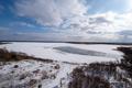 [北海道][ウトナイ湖]氷結したウトナイ湖