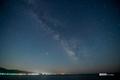 [空][星][北海道]湾と木星と天の川