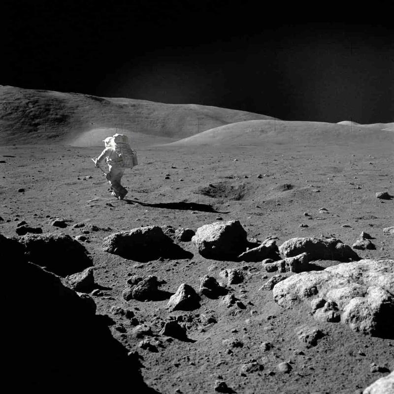 アポロ計画で撮られた月面の写真(画像)