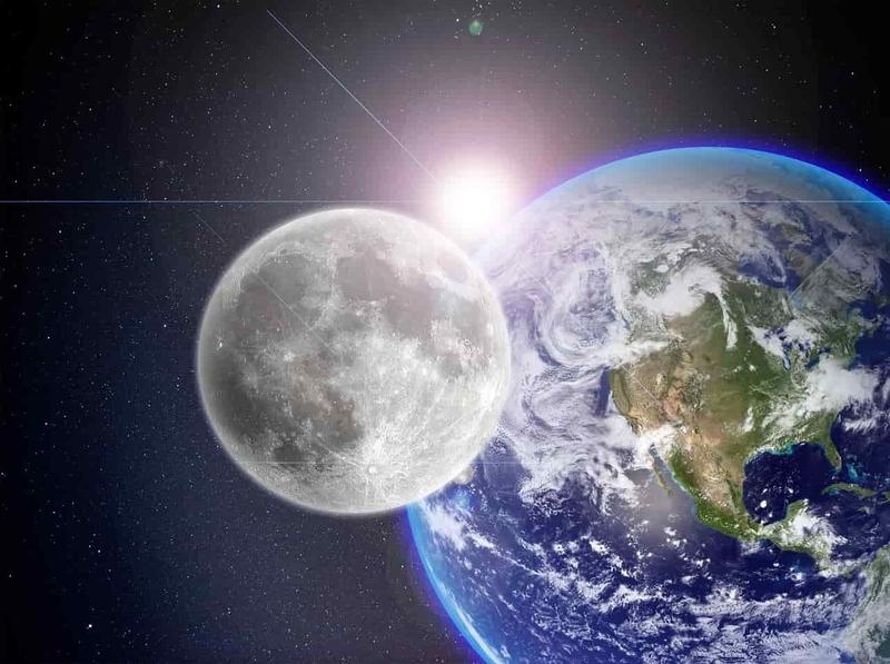 月と地球の大きさの比較