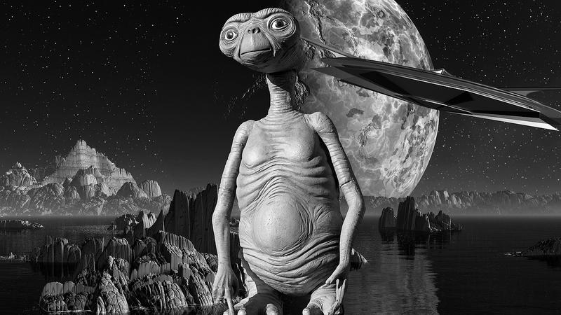 月にいる宇宙人