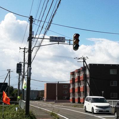 北海道地震 停止した信号機