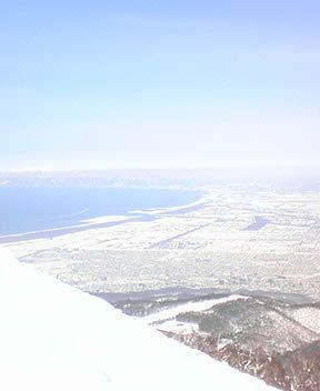 テイネハイランドより海を望む