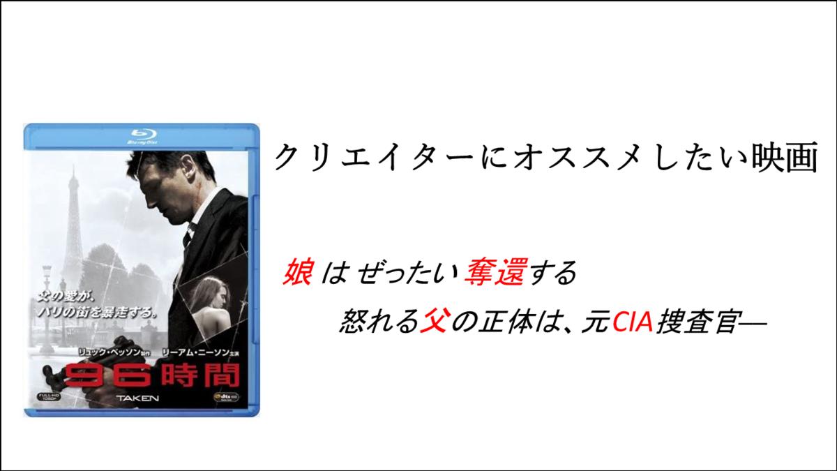 クリエイターにオススメしたい映画【96時間】