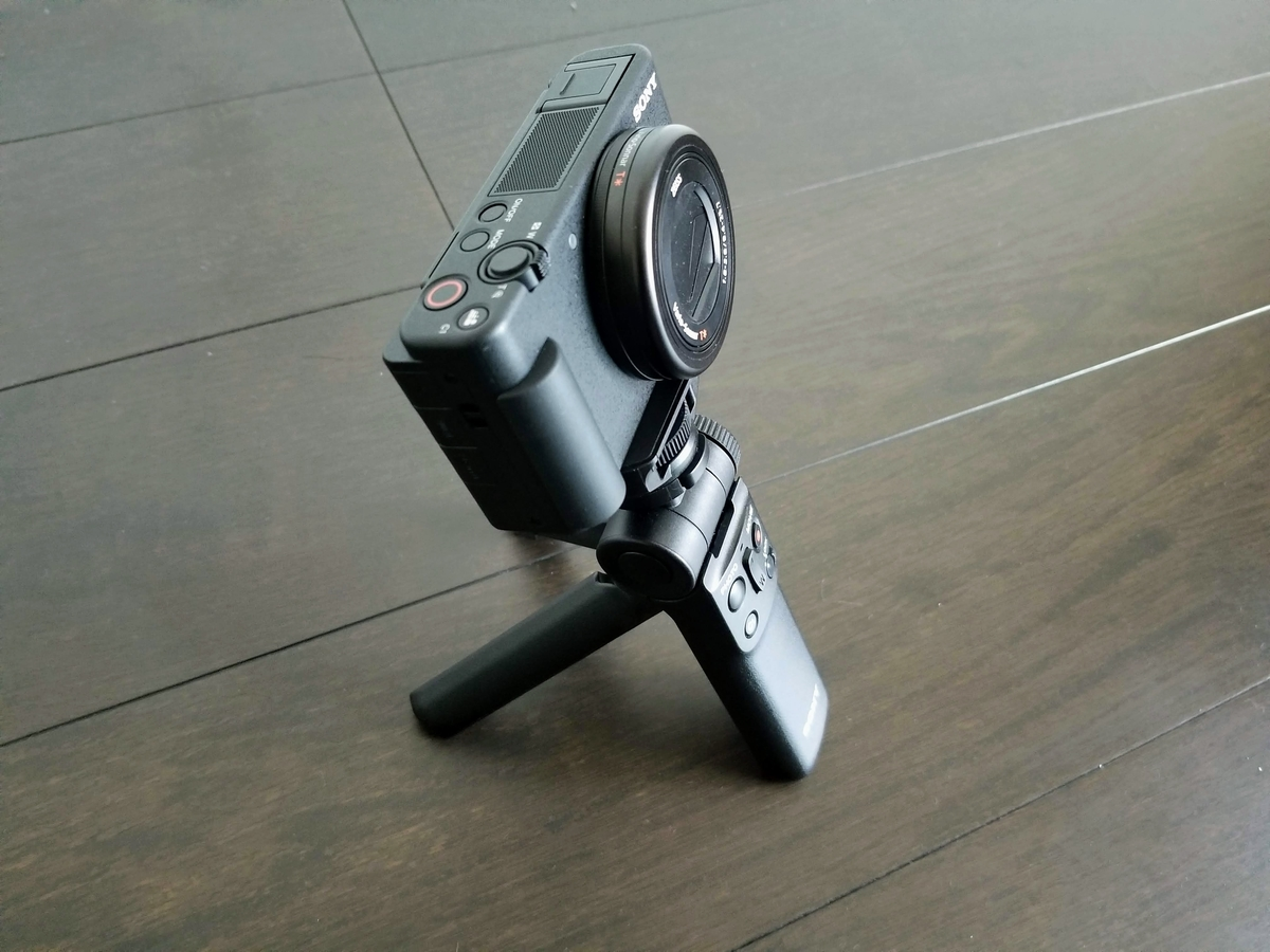SONY VLOGCAM ZV-1 三脚モード