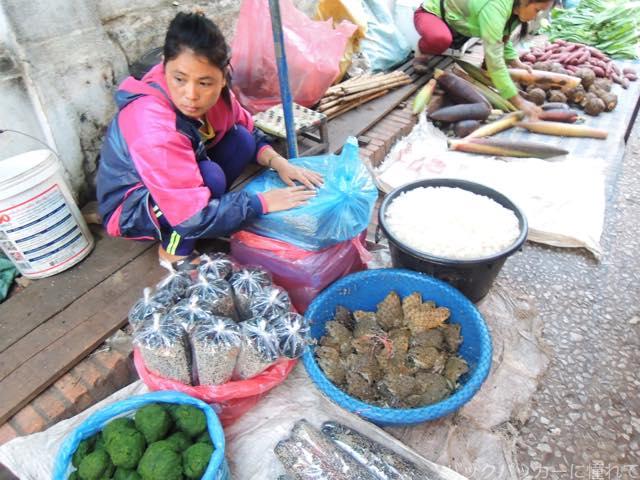 20170205091757 - 夜明け前から始まるルアンパバーンの早朝市場でちょっと一服