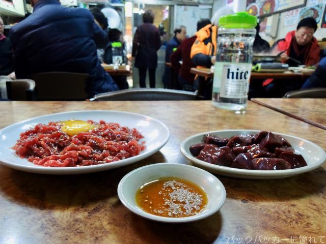20170304082325 - 【韓国】ソウルの広蔵市場でユッケとレバ刺し三昧の旅