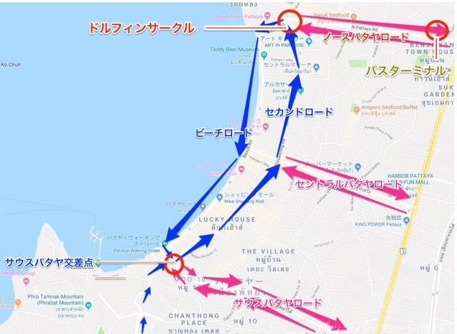 20181020130652 - パタヤの便利な巡回バス「ソンテウ」のルートと乗り方と運賃はコレだ!!