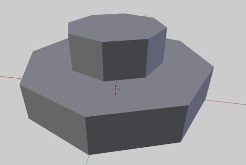 Blender シャープを使った細分割曲面前のオブジェクト