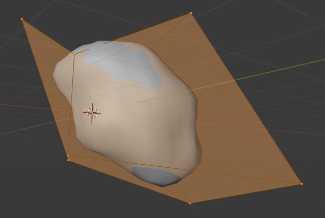 Blenderで岩・石を作成する時の大まかな形の調整方法