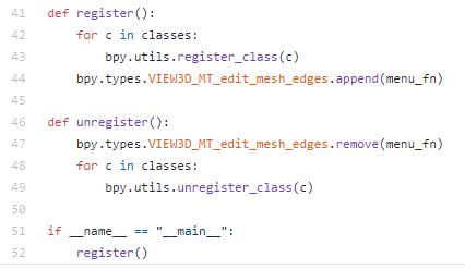 Blenderの自作アドオンでUIに追加するときの登録画面