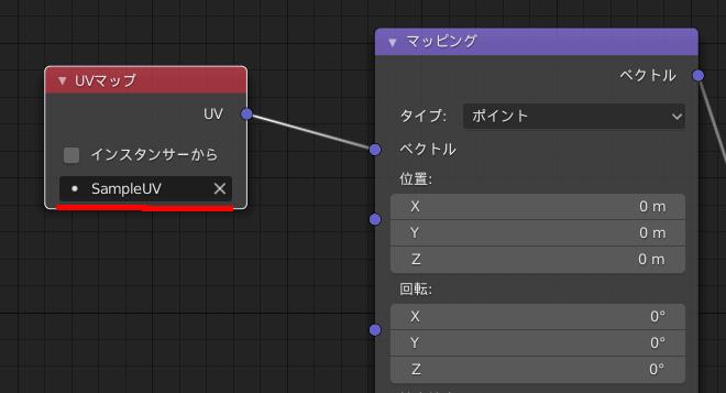 BlenderのシェーダーエディターでUVマップノードの使い方
