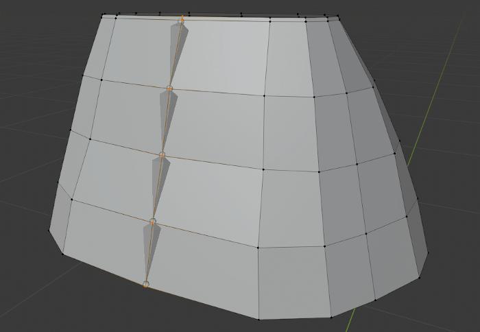 Blenderでスカートリギングをするためのクロスシミュレーション用のアーマチュア作成