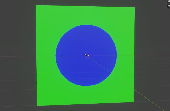 Blenderで日焼け跡のテクスチャペイント完了後