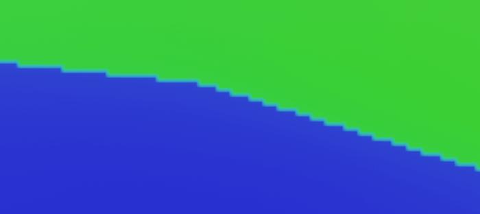 Blenderで日焼け跡の調整前の境界線