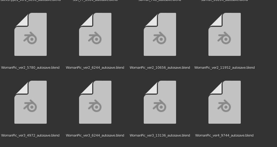 Blenderの自動保存から復元するときのファイル選択画面