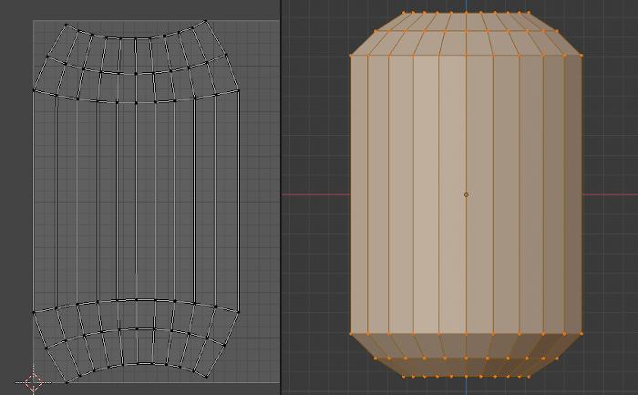 BlenderでUV展開をしたとき歪むときの図