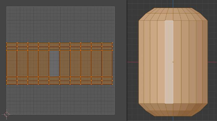 BlenderでUV展開をしたとき歪ませなかった図