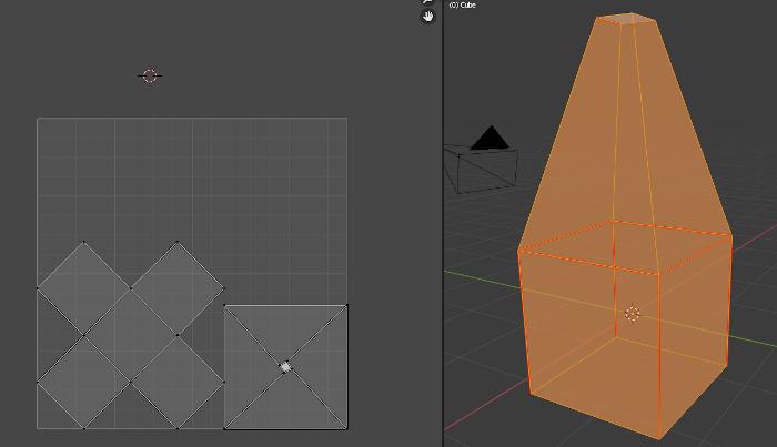 BlenderのUVを合成するサンプル